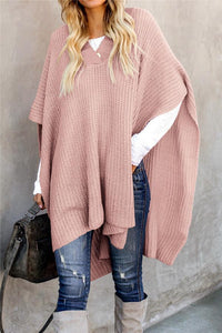 Solid Color Shawl Sweater