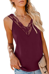 Lace Sleeveless Straight Top