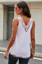 Load image into Gallery viewer, Lace Sleeveless Straight Top
