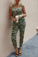 Load image into Gallery viewer, Camouflage Vest Jumpsuit