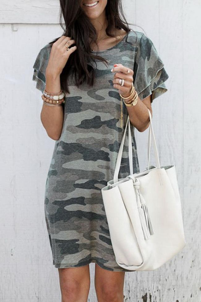 Camouflage Casual Dress
