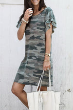 Load image into Gallery viewer, Camouflage Casual Dress