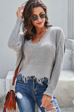 Load image into Gallery viewer, Plain Tassel Sweater