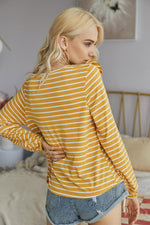 Load image into Gallery viewer, Ruffled Striped T-Shirt