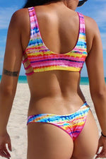 Load image into Gallery viewer, Printed Bandage Beach Halter Design Bikini