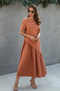 Pure Color Loose Dress