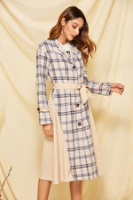 Load image into Gallery viewer, Elegant Plaid Single Breasted Maxi Coat