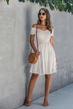 Load image into Gallery viewer, Love Yourself Off Shoulder Striped Dress