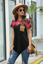 Load image into Gallery viewer, Restore Round Neck Plaid T-Shirt