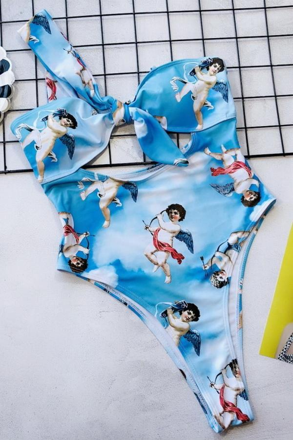 Hollow Cupid One Piece Bikini