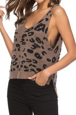 Load image into Gallery viewer, Leopard Print Loose Knitted Vest