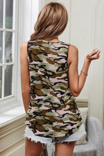 Load image into Gallery viewer, Striped Camouflage Pocket Vest