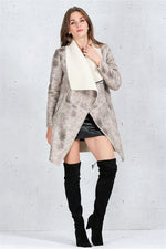 Load image into Gallery viewer, Turn Down Collar Suede Lambswool Coat