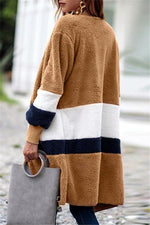 Load image into Gallery viewer, Soft Heart Long Fleece Cardigan
