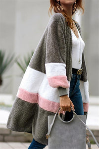 Soft Heart Long Fleece Cardigan