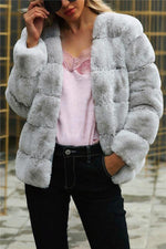Load image into Gallery viewer, Elegant Thick Fluffy Faux Fur Coat