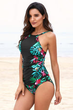 Load image into Gallery viewer, Leaves Print Camisole Bikini Set