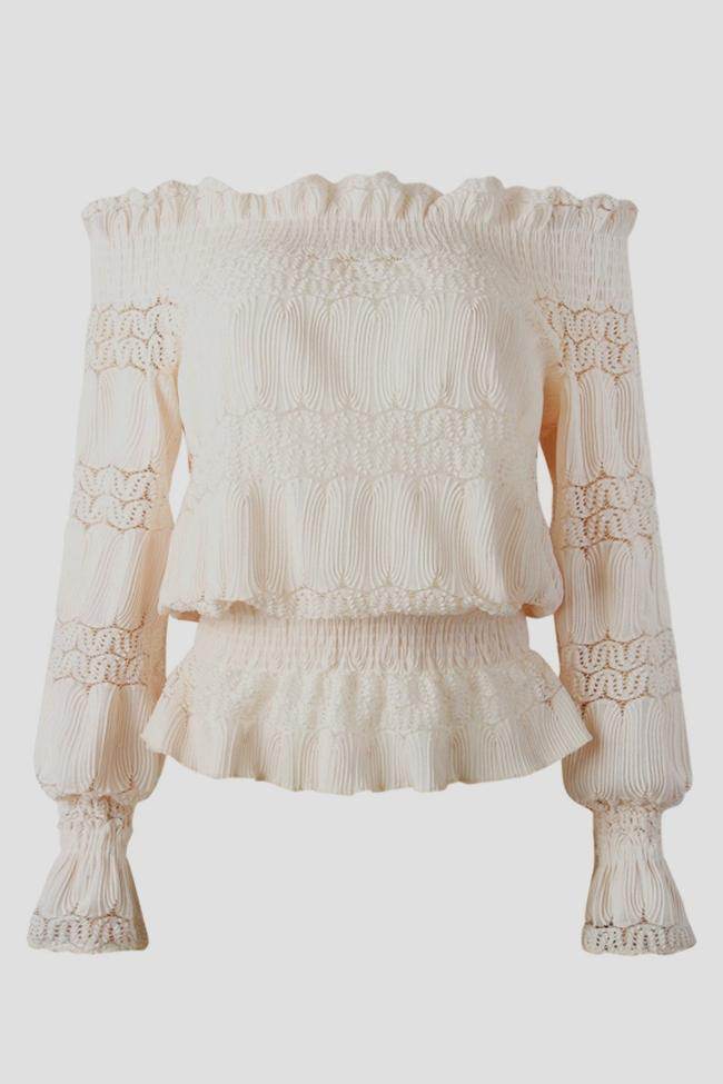 Casual Off Shoulder Lace Blouse