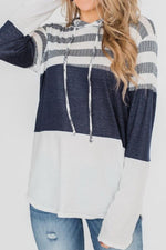 Load image into Gallery viewer, Hooded Loose Long-Sleeved Patchwork Hoodies