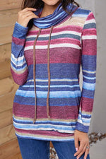 Load image into Gallery viewer, Medium Long Striped Pocket Long Sleeve Sweater