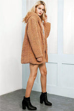Load image into Gallery viewer, Hooded Long Faux Fur Coat