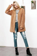 Load image into Gallery viewer, Lamb Faux Fur Coat