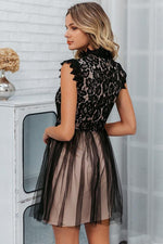Load image into Gallery viewer, Embroidery Sleeveless Lace Short Dress