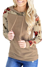 Load image into Gallery viewer, Autumn Floral Drawstring Hoodie