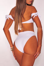 Load image into Gallery viewer, Pure Color Off The Shoulder Bikini Set