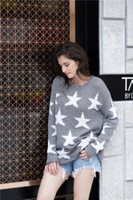 Load image into Gallery viewer, Round Neck Star Loose Sweater