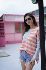 Load image into Gallery viewer, Striped Low High Loose Sweater