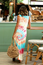 Load image into Gallery viewer, Tie-Dyed Printed Casual Vest Dress