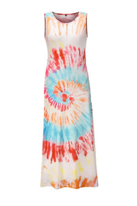 Tie-Dyed Printed Casual Vest Dress