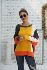 Load image into Gallery viewer, Color Block Cable Knit Sweater