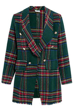 Load image into Gallery viewer, High Street Tweed Chic Plaid Blazer