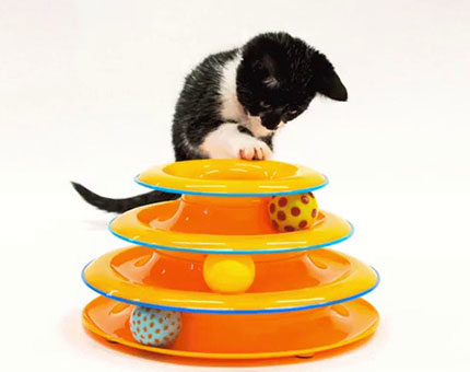 Petstages tower of tracks interactive cat toy