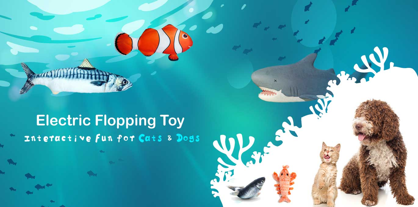 electric flopping toy for cats and dogs