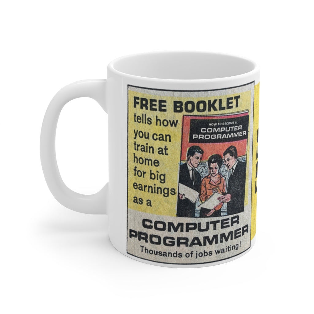 FREE BOOKLET - Computer Programmer 11oz Mug - Mystery Supply Co.