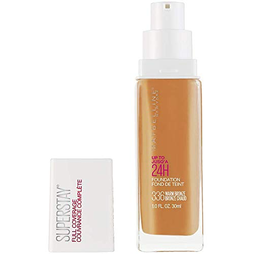 Maybelline New York Super Stay Full Coverage Liquid Foundation Makeup, 336 Warm Bronze