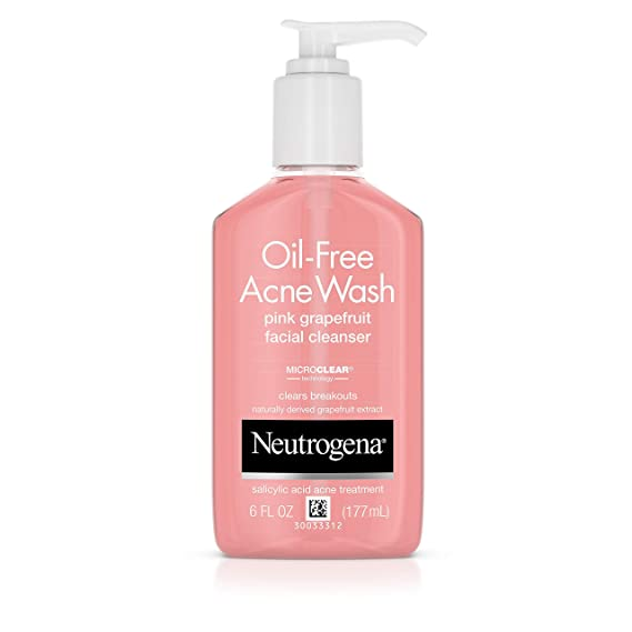 Neutrogena Acne Wash Pink Grapefruit 9.1 oz Pump