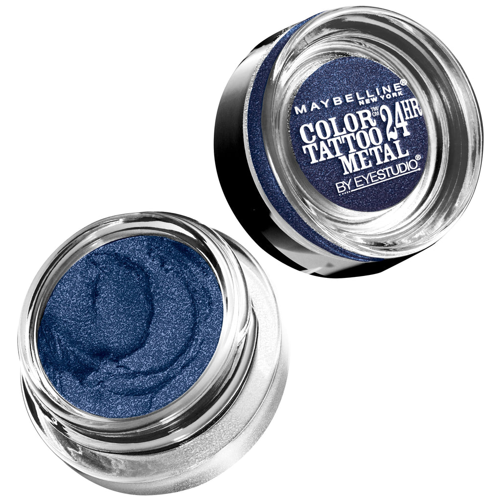 Maybelline New York Eye Studio Color Tattoo Metal 24 Hour Cream Gel Eyeshadow, Electric Blue, 0.14 Ounce