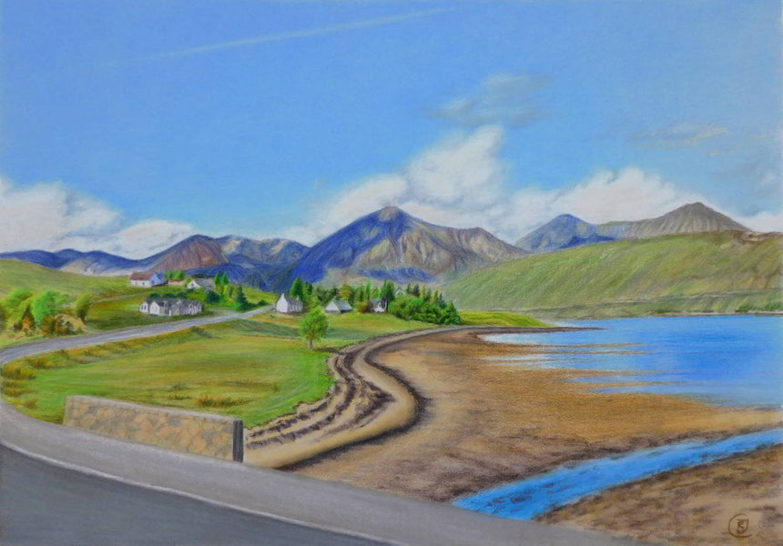 Isle of Skye, Scottish landscape, drawing by Rhia Janta-Cooper