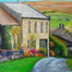 Hauses From North Yorkshire, acrylic, realistic painting by Rhia Janta-Cooper