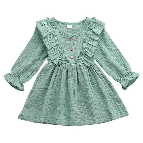 Girls Autumn Ruffled Dress