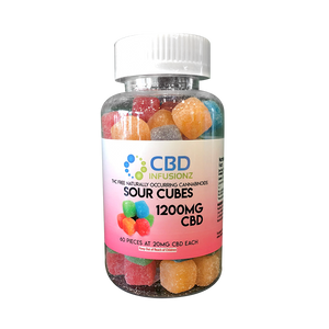CBD Infusionz Sour Chewy Cubes