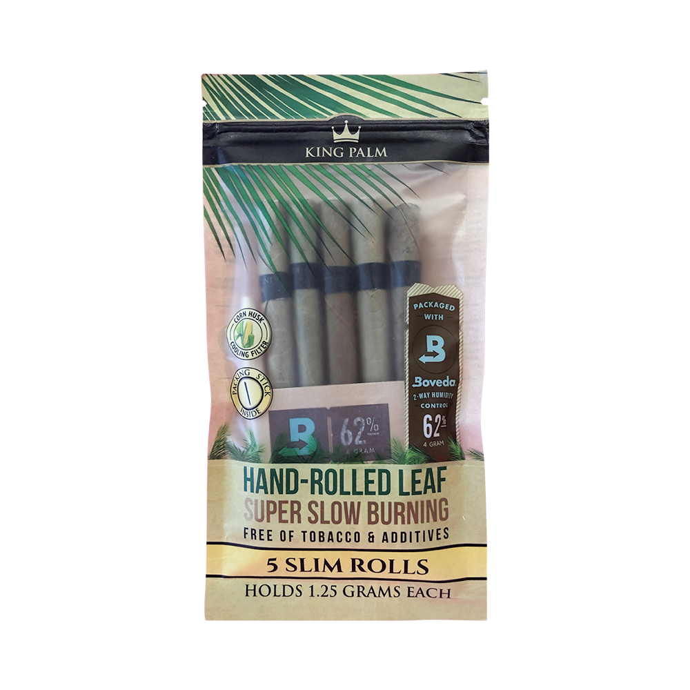 King Palm Slim Rolls Pack of 5