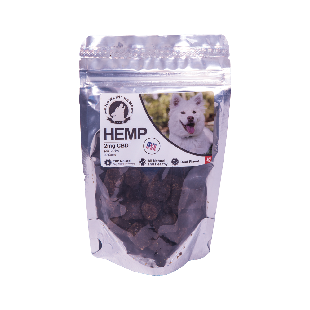 Howlin' Hemp, Hemp Extract Dog Treats (2mg, 30 Count) THC-Free
