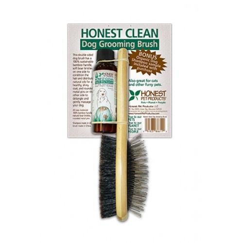 Honest Pets Dog Grooming Brush and Shampoo
