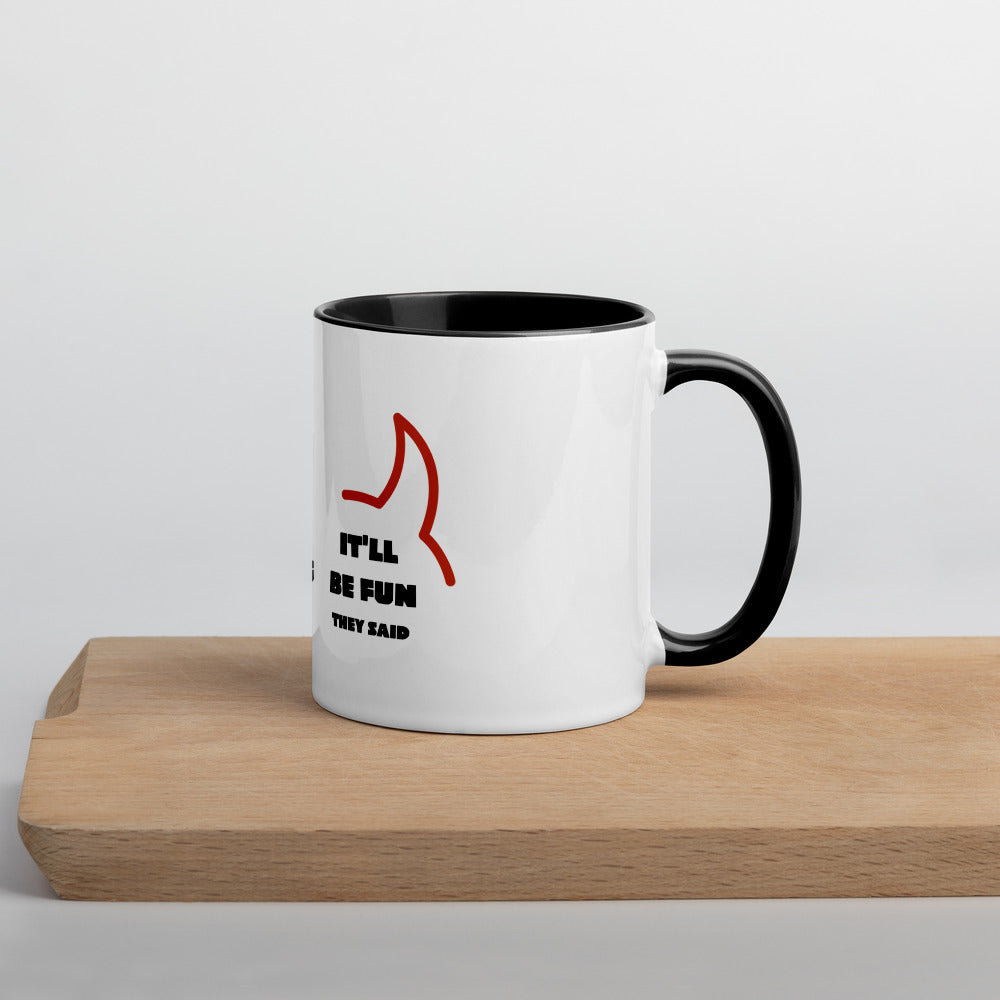 'Try e-Learning, They Said' Mug with Color Inside