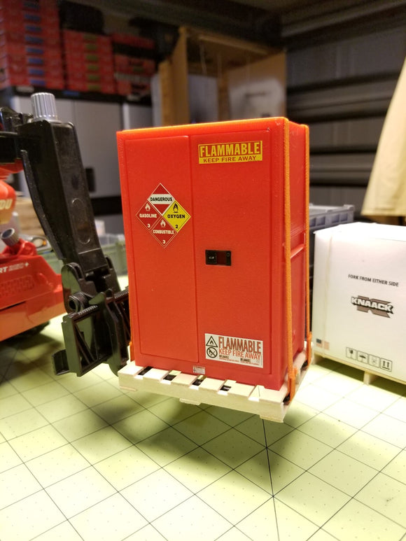 Miniature Flammables Cabinet at 1:14 Scale